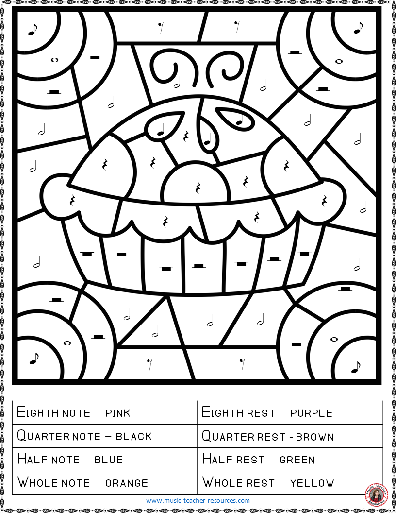 Thanksgiving Music  26 Thanksgiving Music Coloring Pages