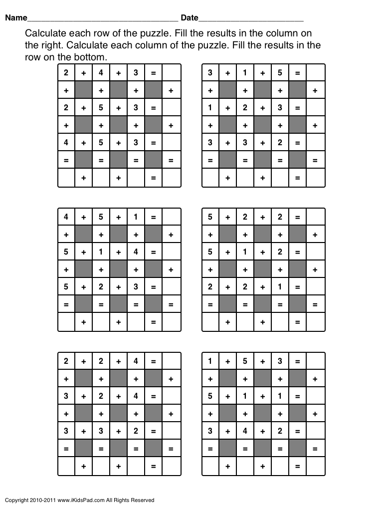 Third Grade Math Puzzle Worksheets Total Product 3b  Picture