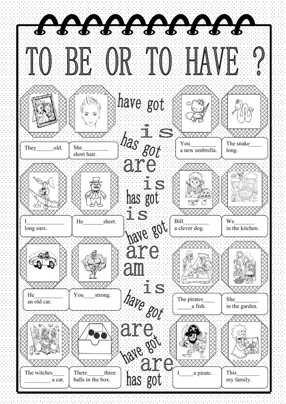 To Be Or To Have Interactive Worksheet