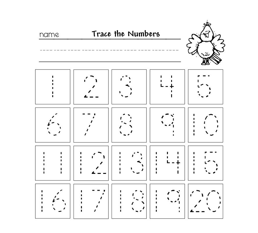 Tracing Numbers 1 20 Pdf