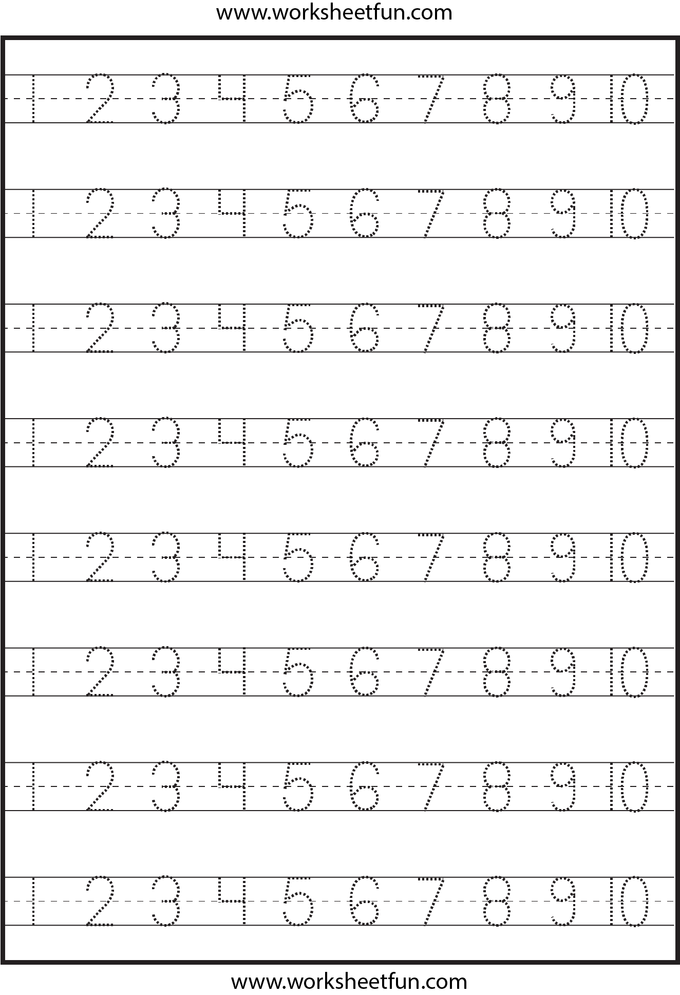 Tracing Numbers Worksheets 1 20 The Best Worksheets Image