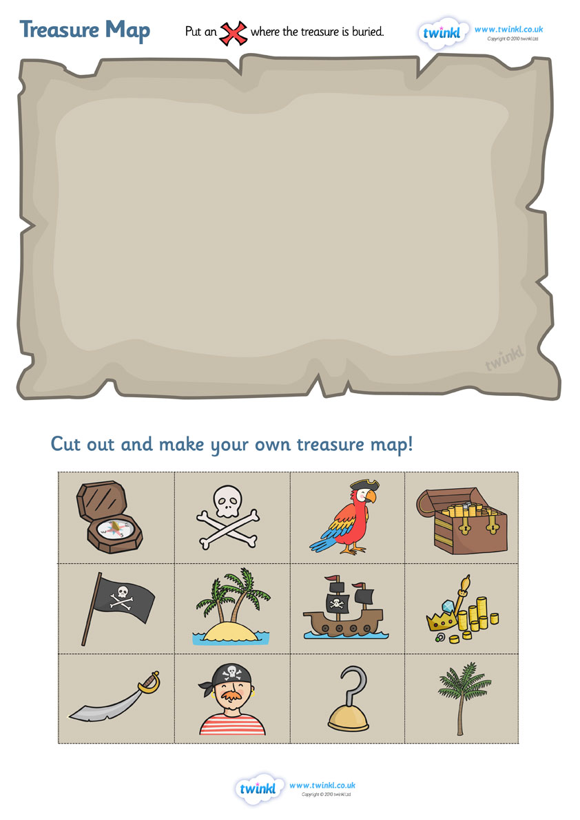 Twinkl Resources    Treasure Map Design Activity    Thousands Of