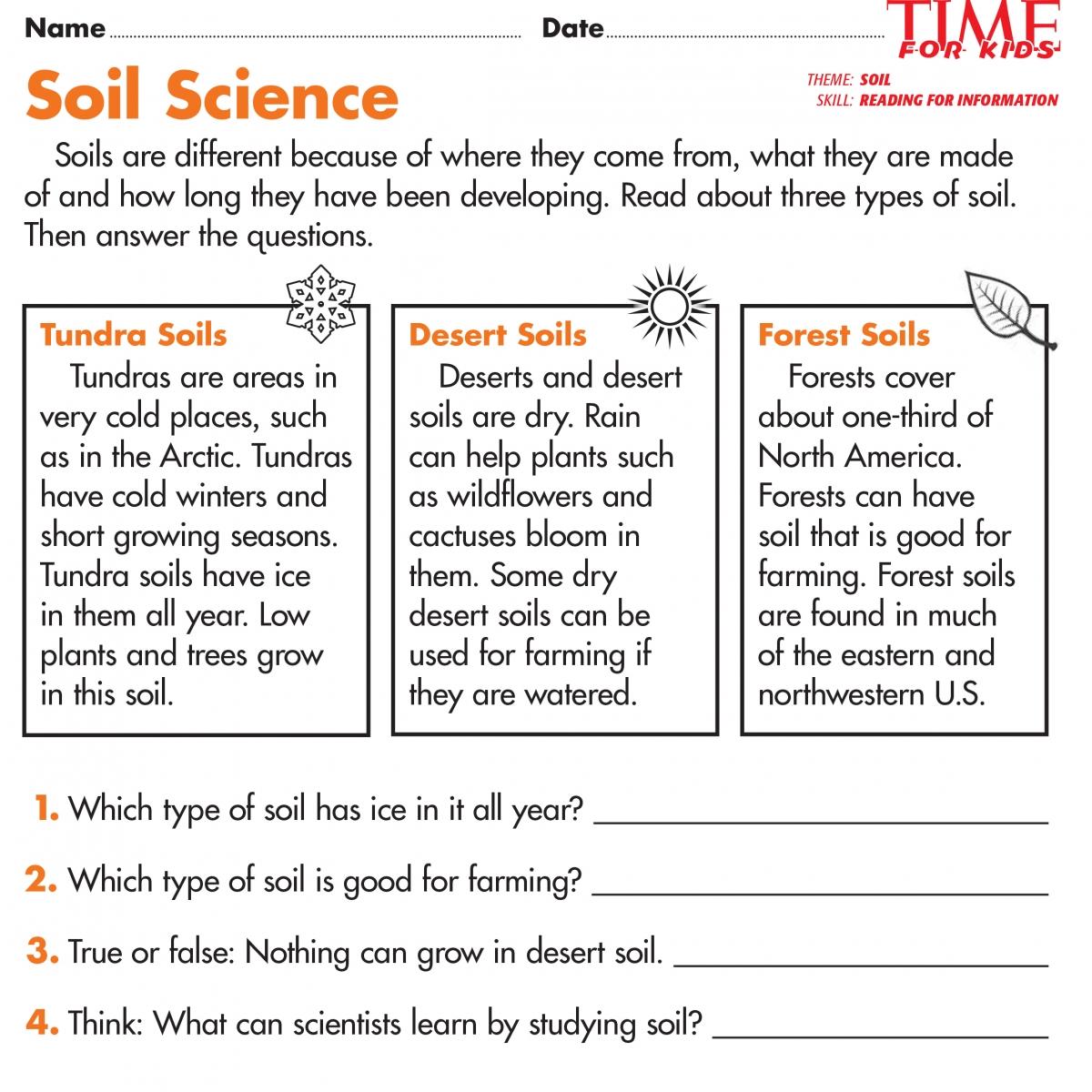 Types Of Soil Worksheet Worksheets For All