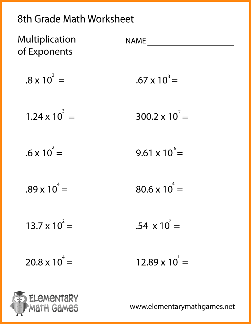 Ultimate Math Worksheets Grade 8 With Answers With 8 8th Grade
