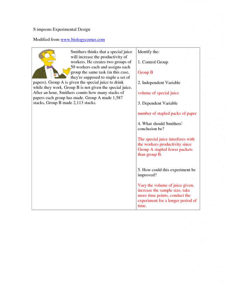 Variable Worksheet Answers Worksheets For All