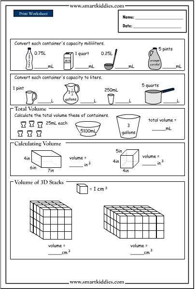 Volume Conversion Worksheet The Best Worksheets Image Collection