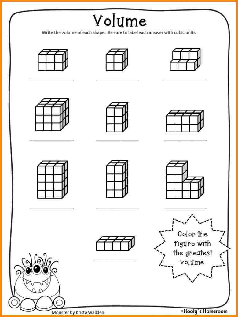 Volume Cubes Worksheets Worksheets For All