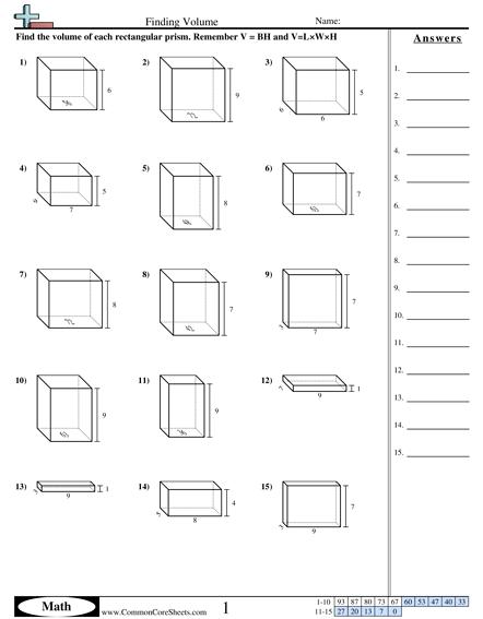 Volume Of Rectangular Prisms Worksheet The Best Worksheets Image