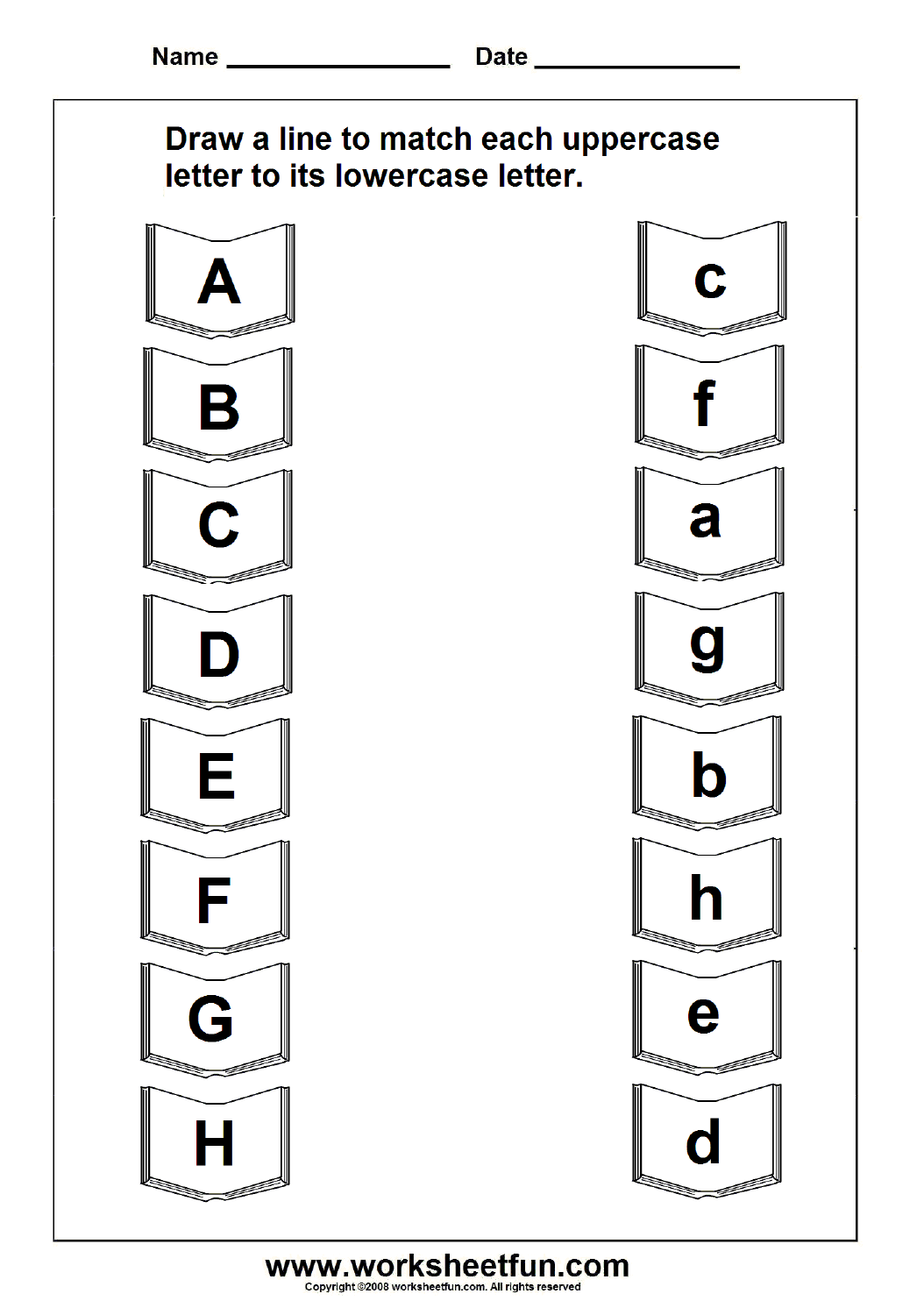Workbooks » Matching Alphabets With Pictures Free Worksheets