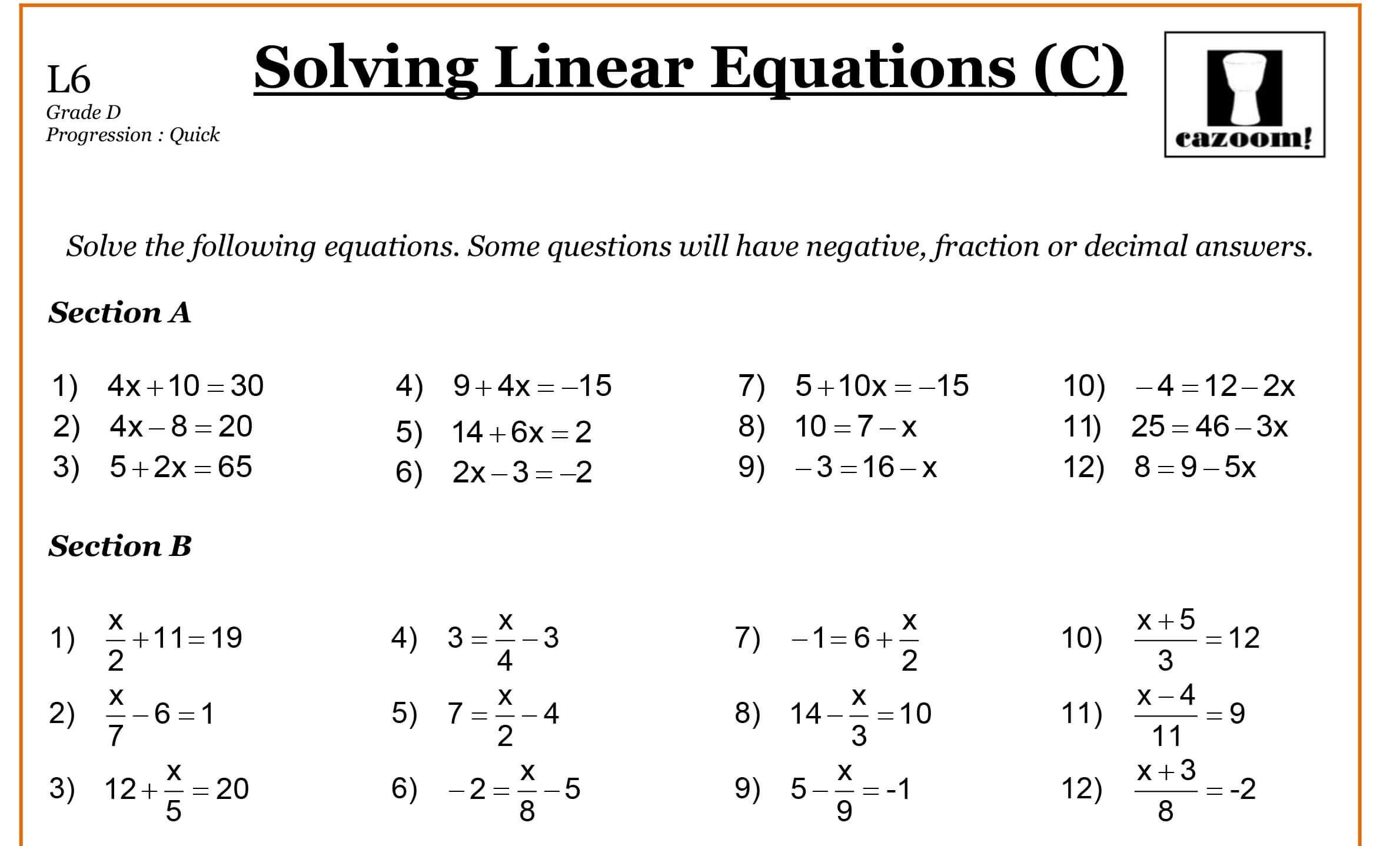 Worksheet  Grade 6 Math Algebra Worksheets  Thedanks Worksheet For