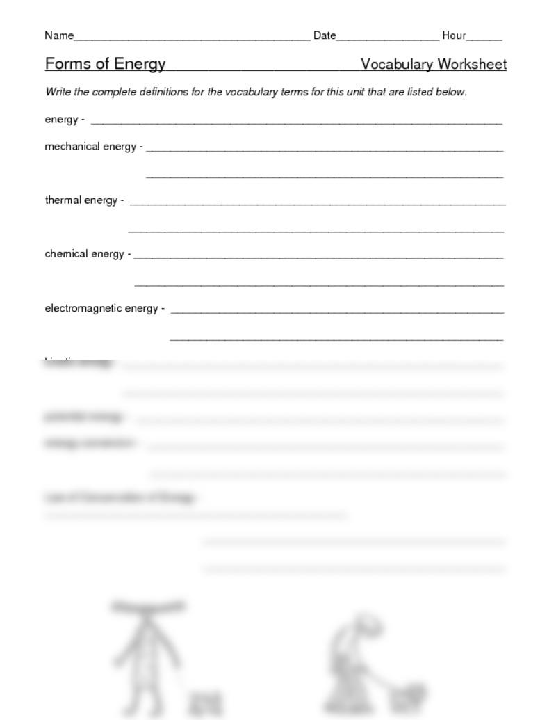 Worksheet  Mechanical Energy Worksheet  Grass Fedjp Worksheet