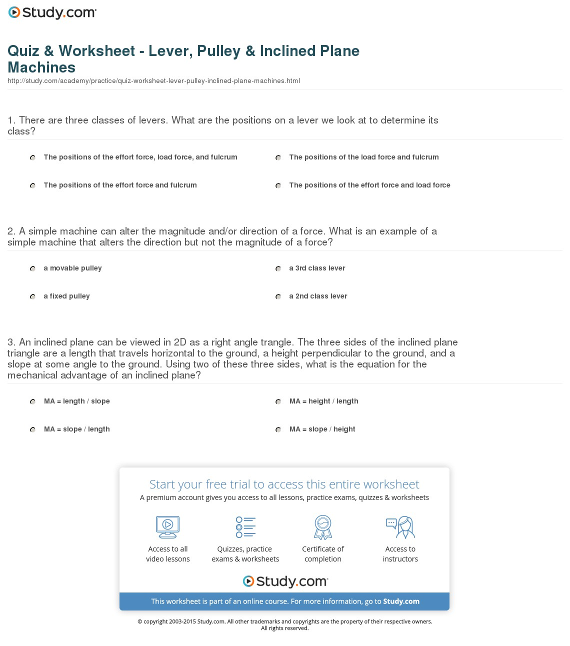 Worksheet  Simple Machines Worksheets  Grass Fedjp Worksheet Study