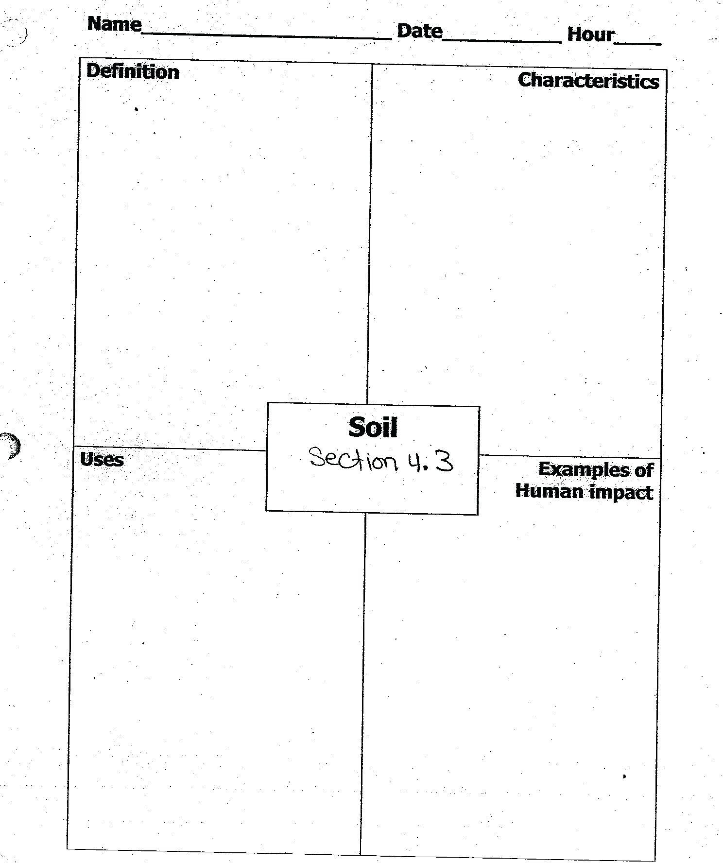 Worksheet  Soil Horizon Worksheets Click Here For  Soil Horizon