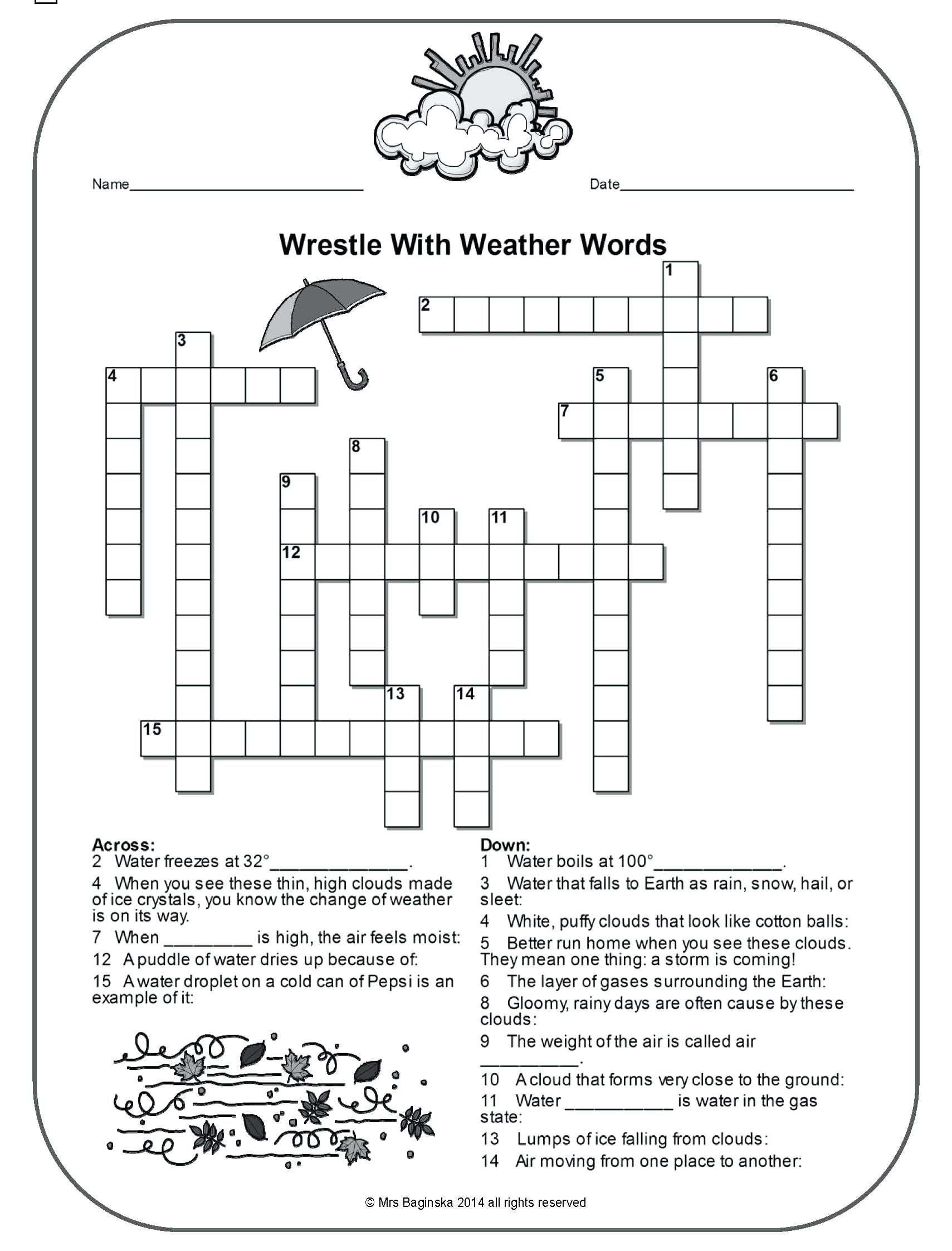 Worksheet Weather Worksheets 4th Grade Earth Sci Final ...