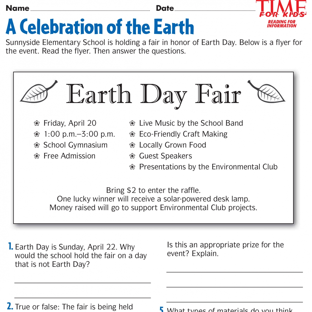 Worksheets About Earth Day Worksheets For All