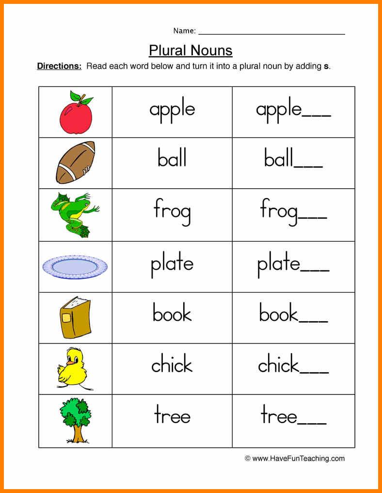 10+ Nouns Worksheets