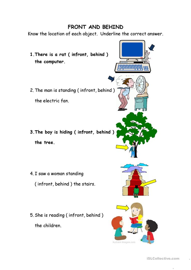 12 Free Esl Behind Worksheets