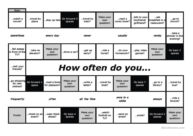 20 Free Esl How Often Do You Worksheets
