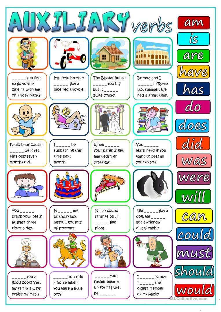 30 Free Esl Auxiliary Verbs Worksheets