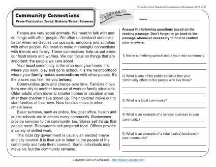 3rd Grade Comprehension Worksheets Free The Best Worksheets Image