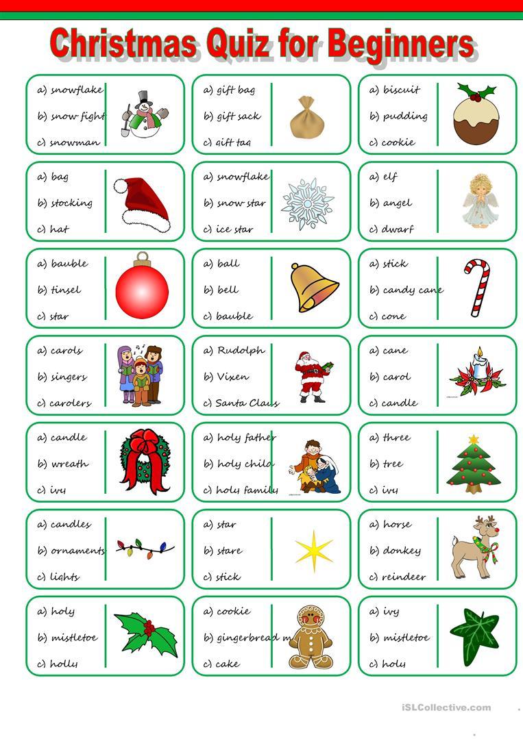 43 Free Esl Christmas Vocabulary Worksheets