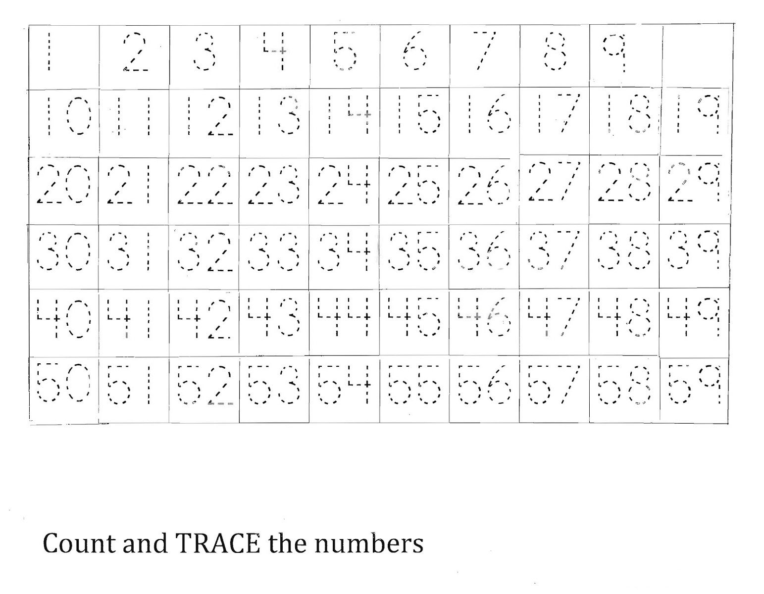 50 Number Charts To Print