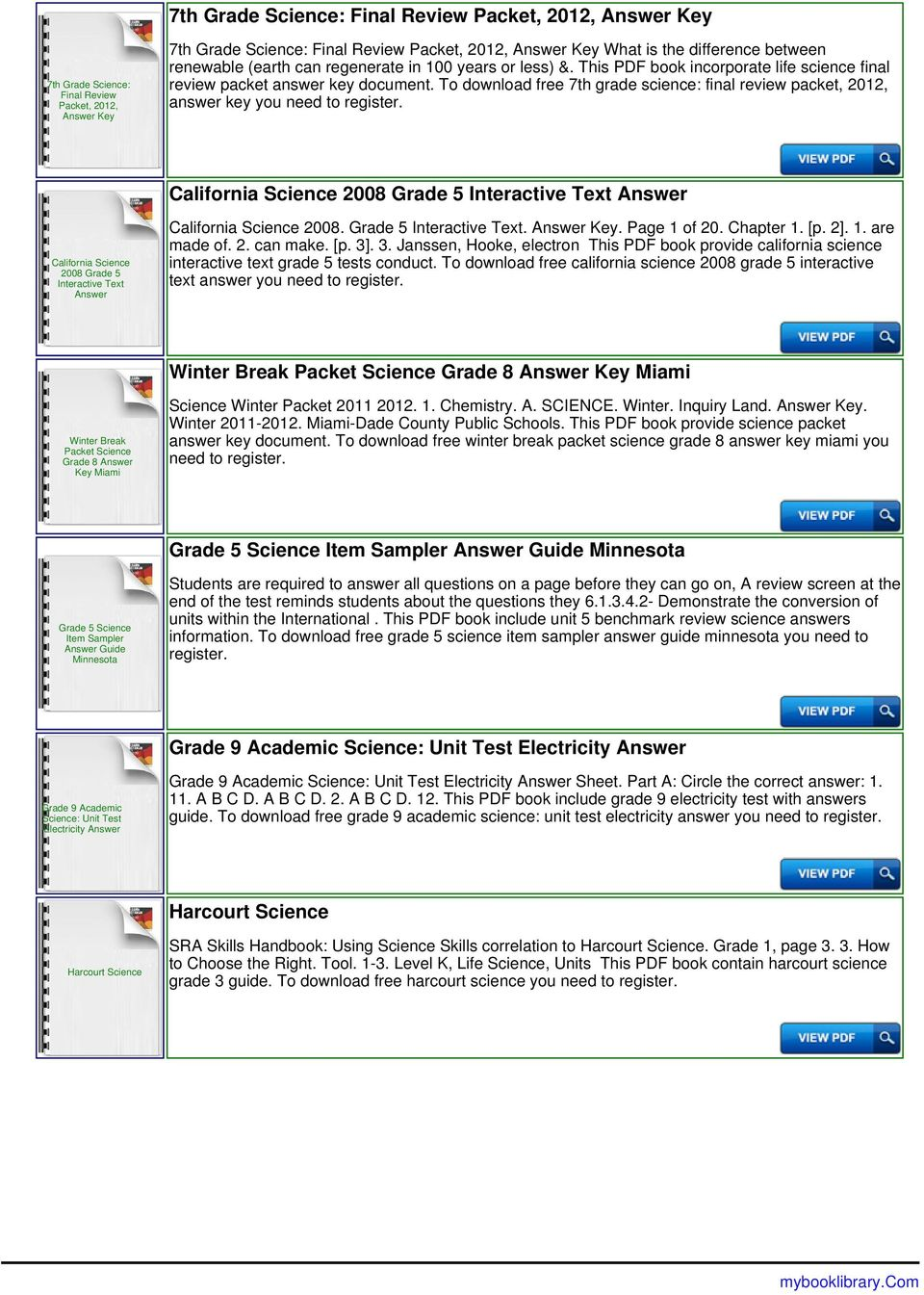 5th Grade Science Worksheets With Answer Key Worksheets For All