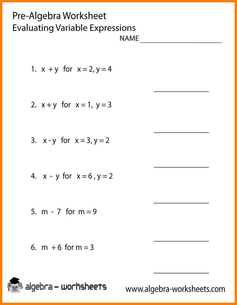 6 9th Grade Math Worksheets