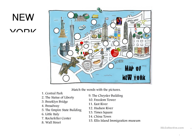 70 Free Esl New York Worksheets