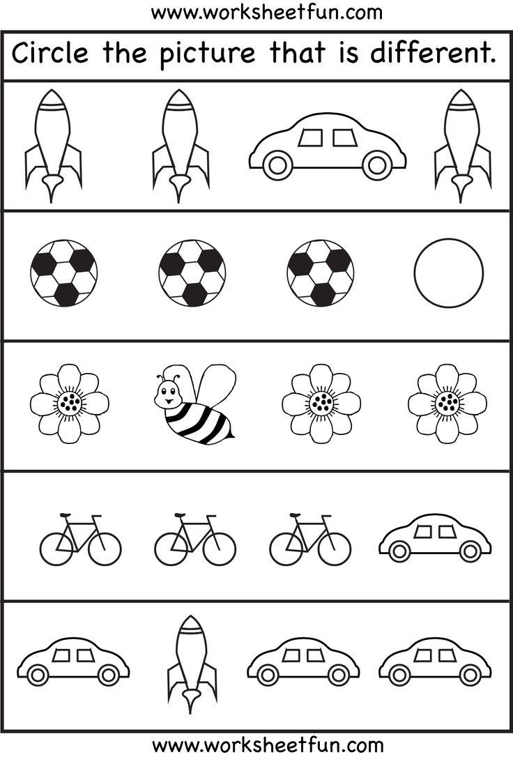 77 Best Different Images On Worksheets Samples
