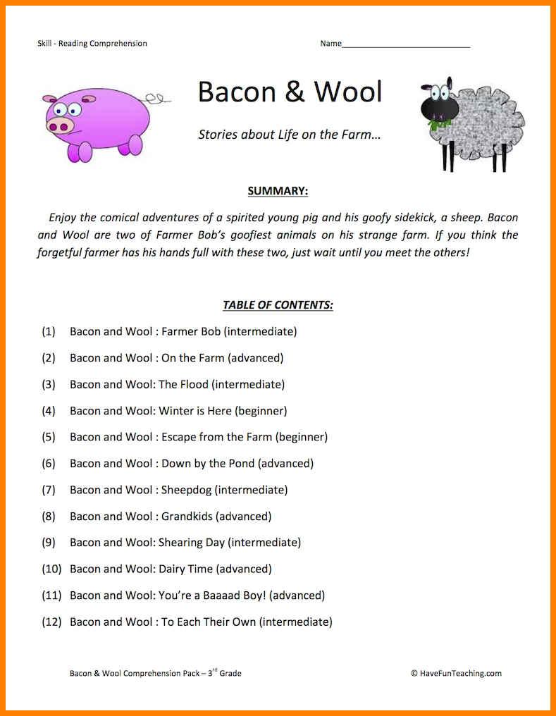 8+ 3rd Grade Comprehension Worksheets