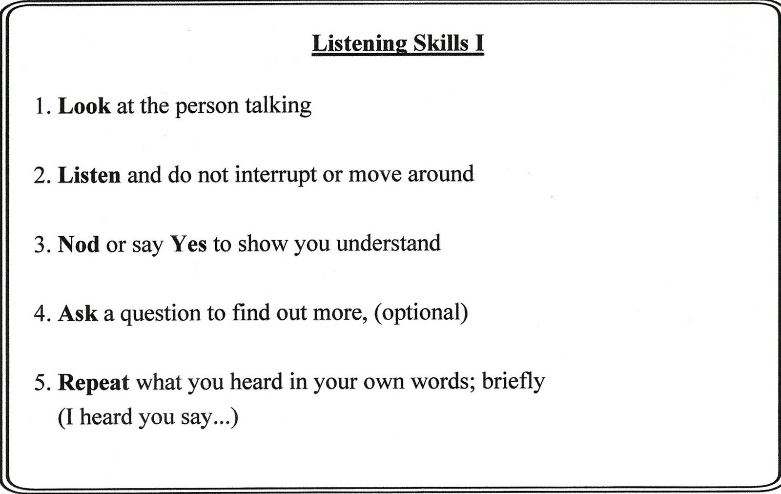 Active Listening Is Very Important When Trying To Resolve Conflict