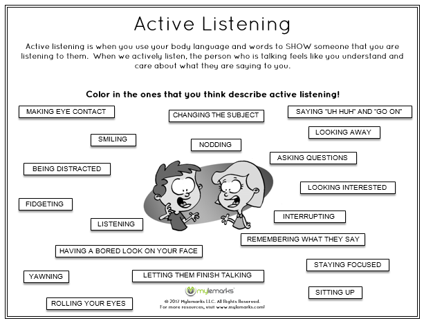 Active Listening Worksheet The Best Worksheets Image Collection
