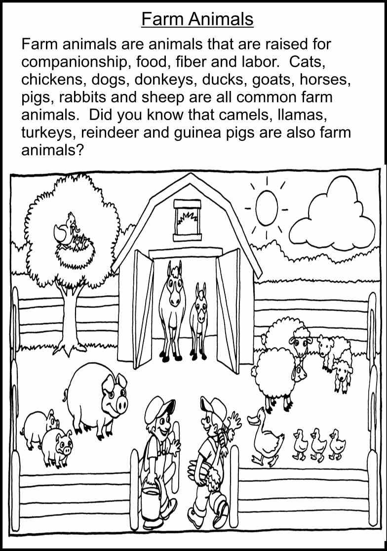 Adorable Farm Animals Worksheets With Best Photos Of Printable