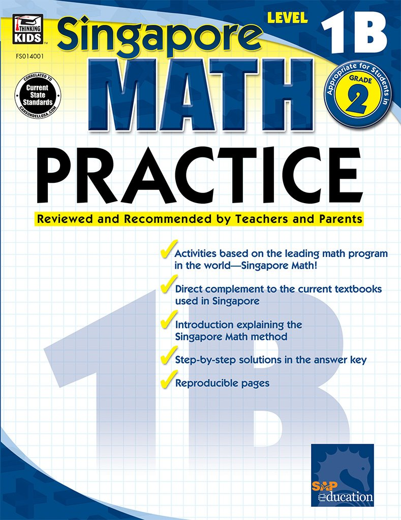 Amazon Com  Math Practice, Grade 2, Level 1b (singapore Math
