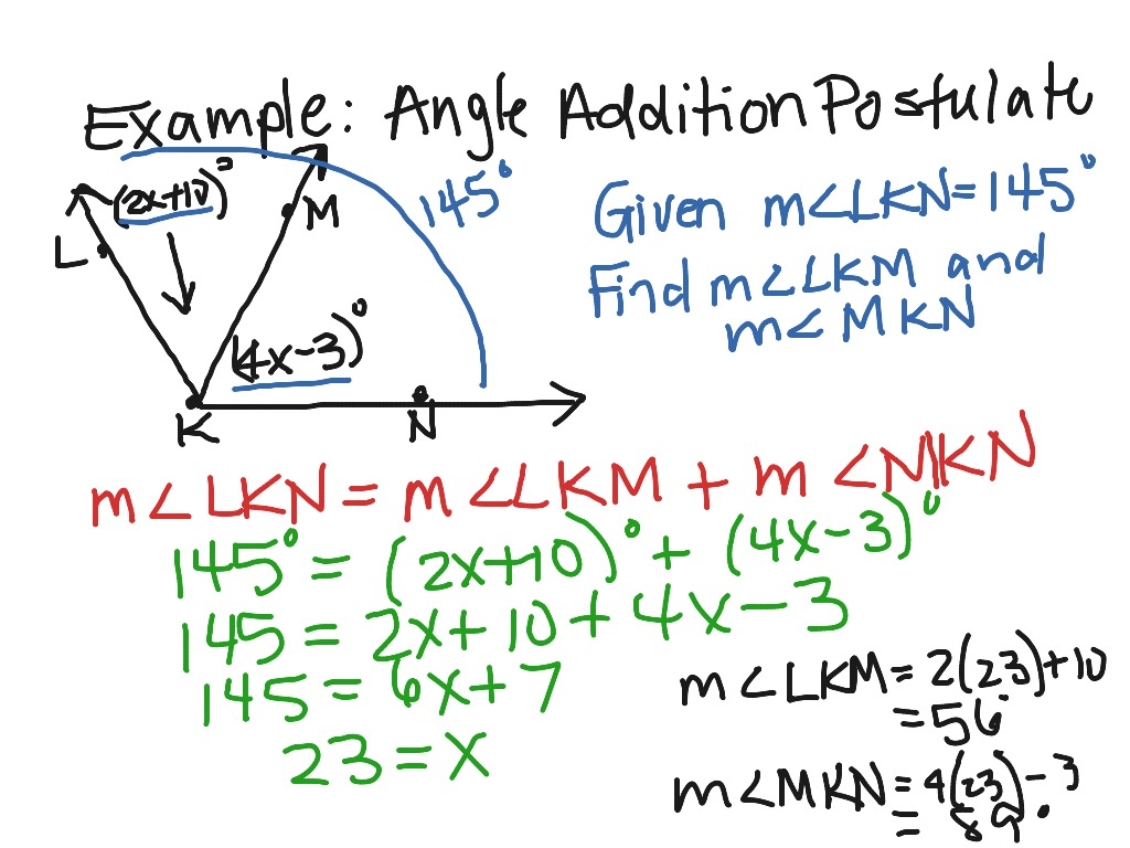 Angle Addition Postulate Worksheets Pdf Worksheets For All