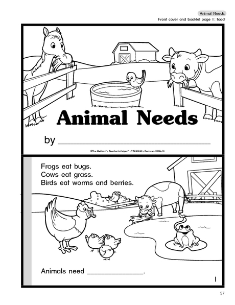 Animal Needs Worksheets The Best Worksheets Image Collection