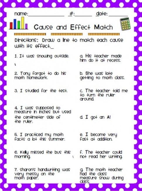 Beautiful Because Math Worksheet Images