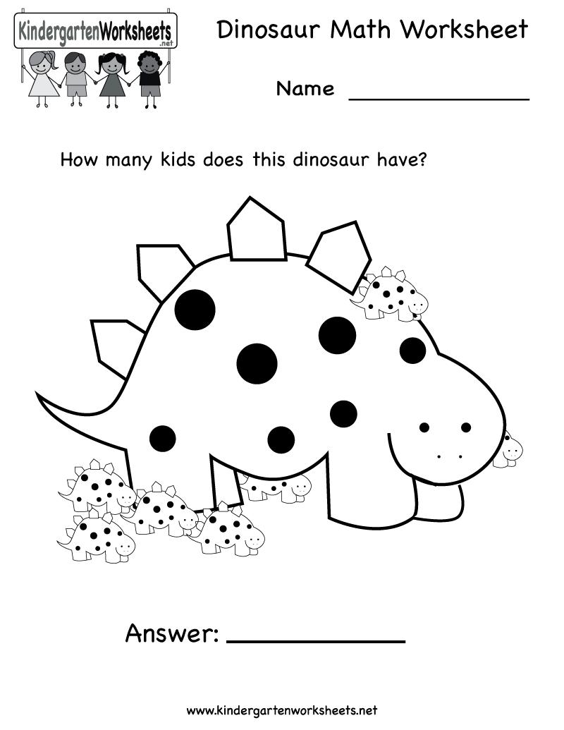 Bonanza Dinosaur Worksheets For Kids Math Worksheet Free
