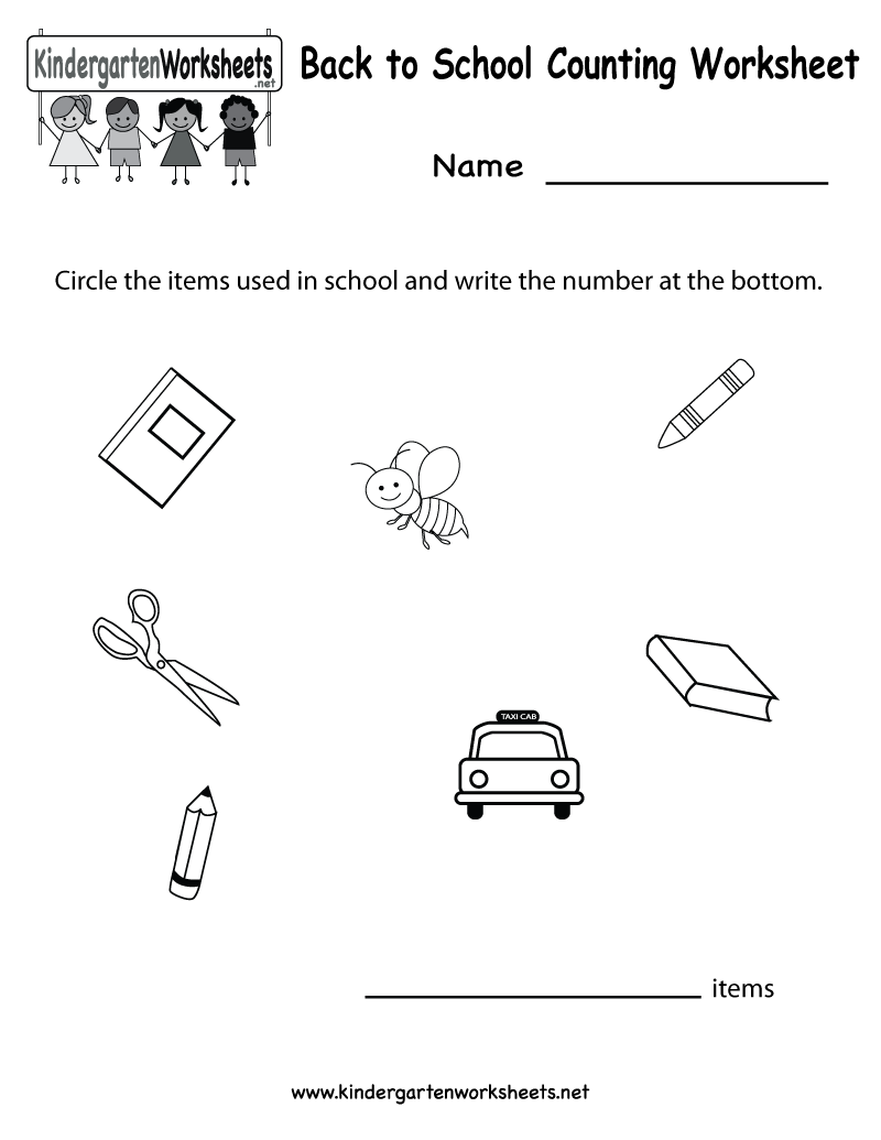 Bunch Ideas Of First Week Kindergarten Worksheets With Proposal