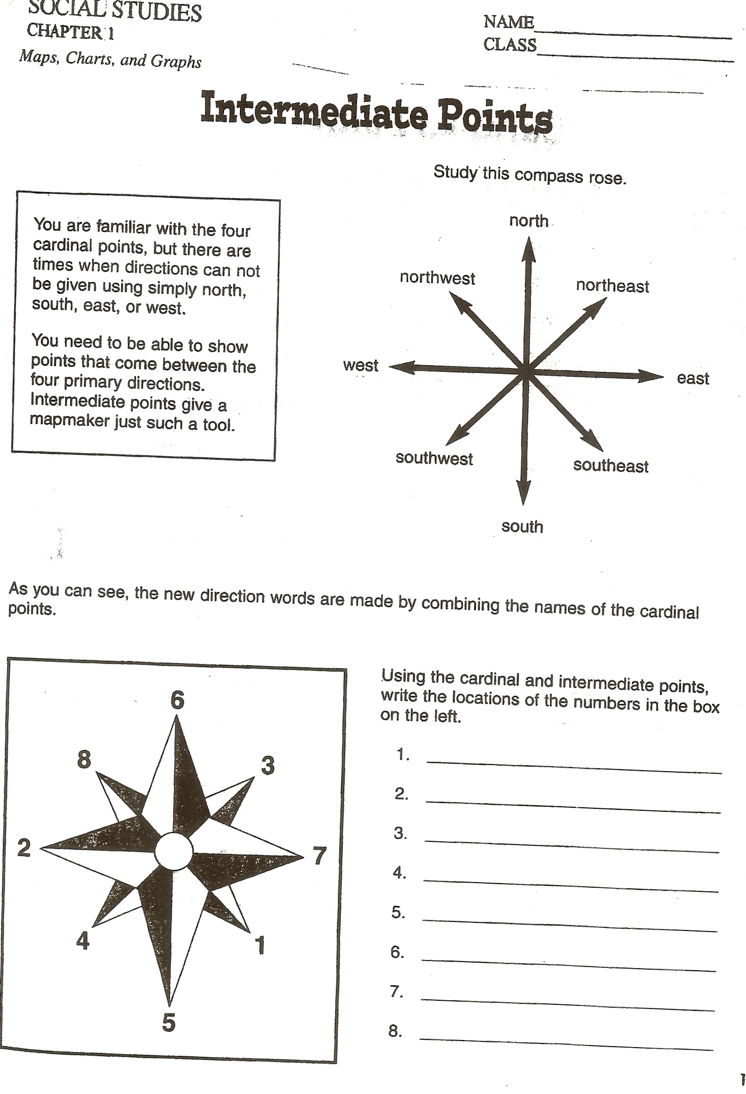 compass directions worksheets. Black Bedroom Furniture Sets. Home Design Ideas