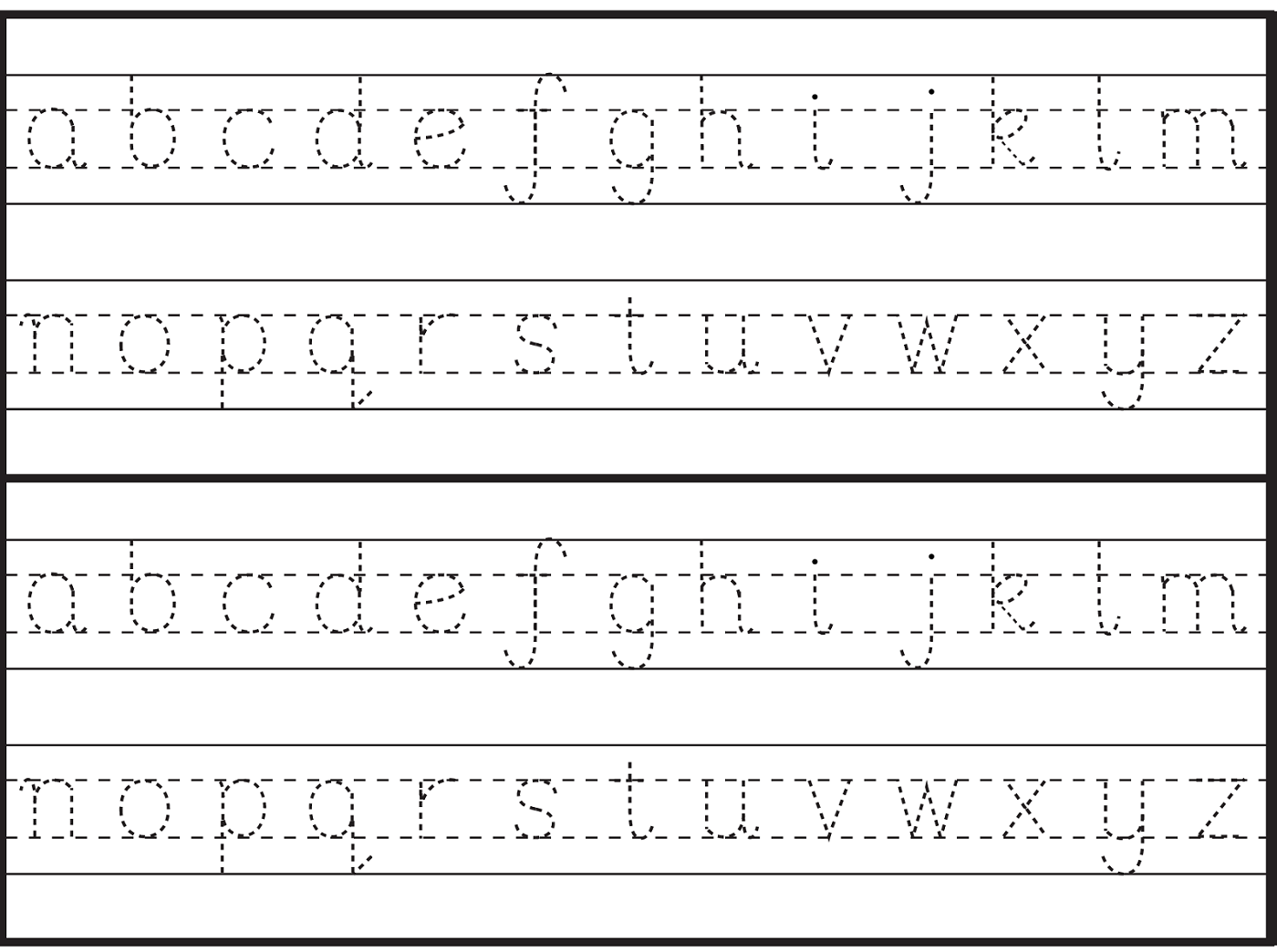 Childrens Printable Alphabet Worksheets Letters Sheets English