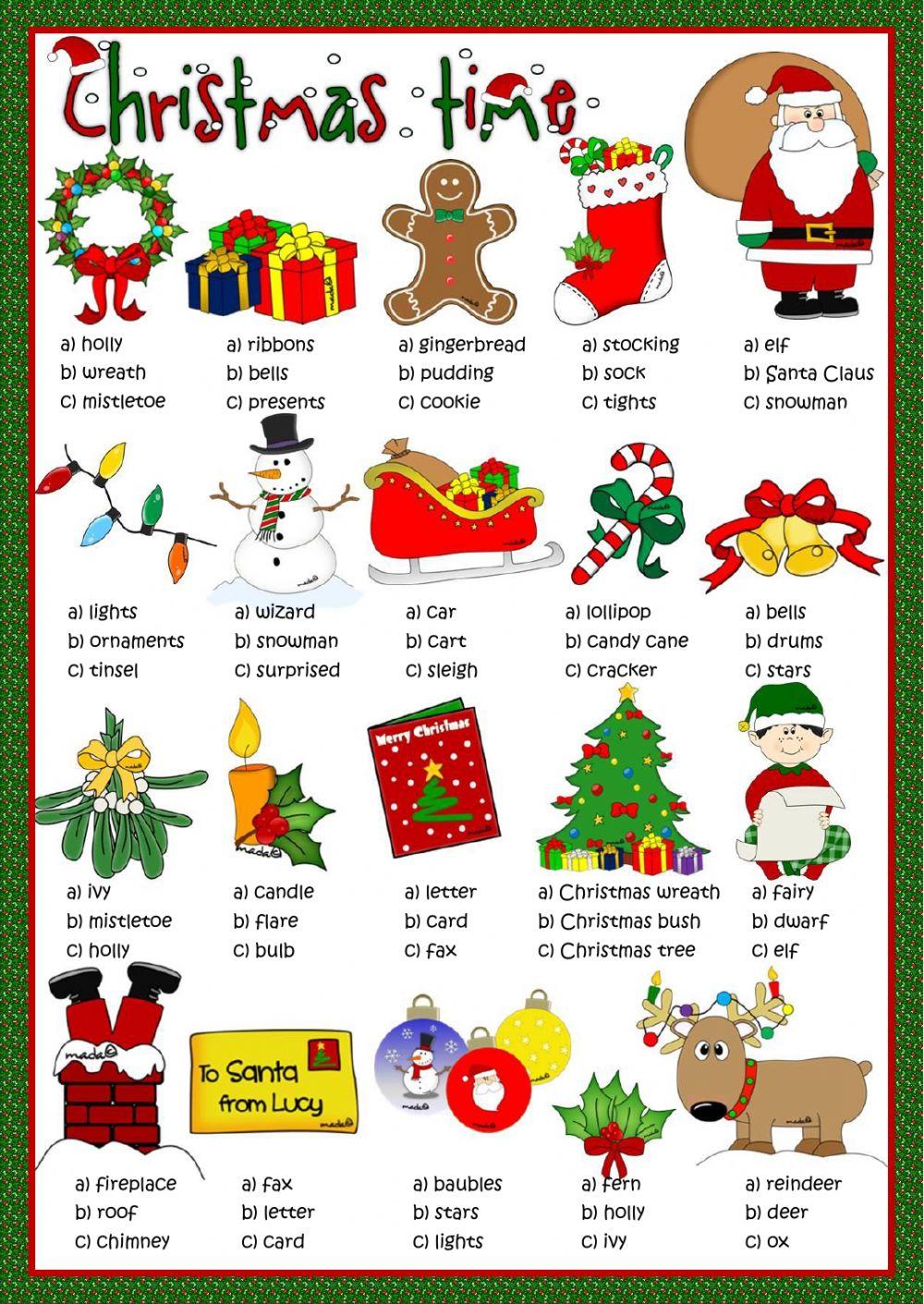 Christmas Interactive Worksheets