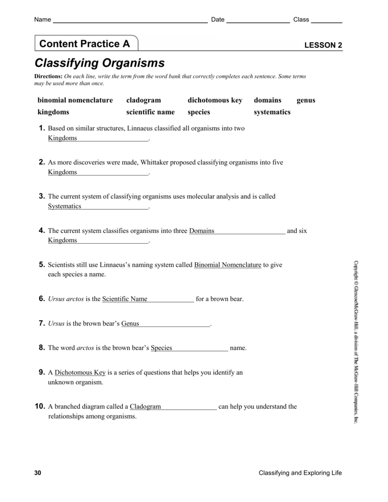 living things classification worksheets. Black Bedroom Furniture Sets. Home Design Ideas