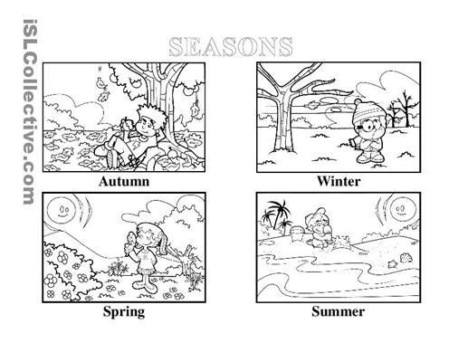Collection Of Worksheets For Kindergarten Seasons