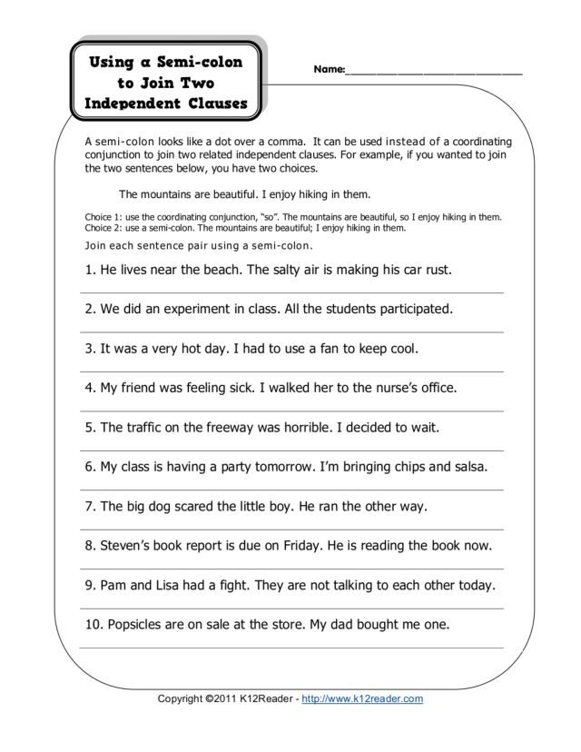 Colon Vs Semicolon Worksheet The Best Worksheets Image Collection