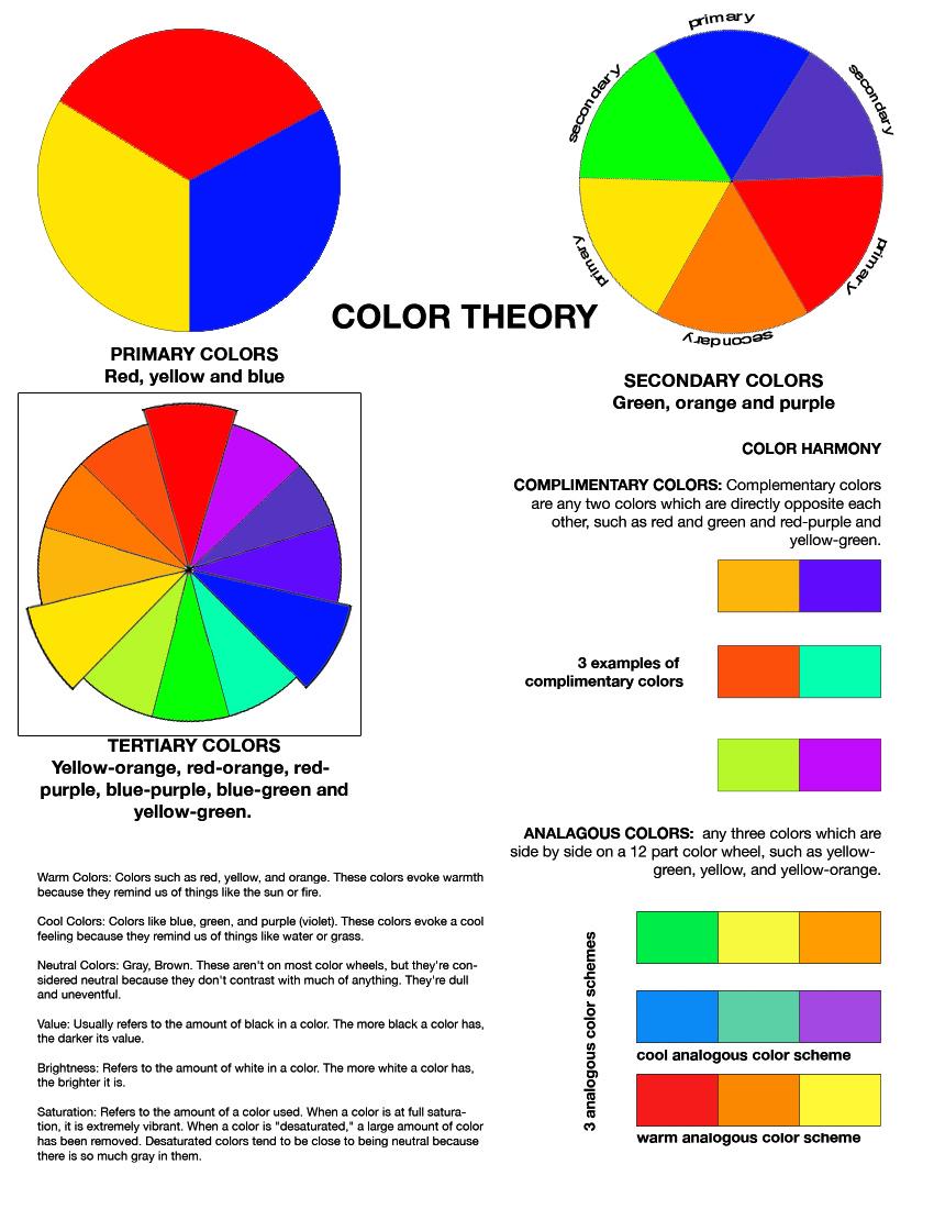 Color Theory Worksheet – Rafaelgarciaphoto