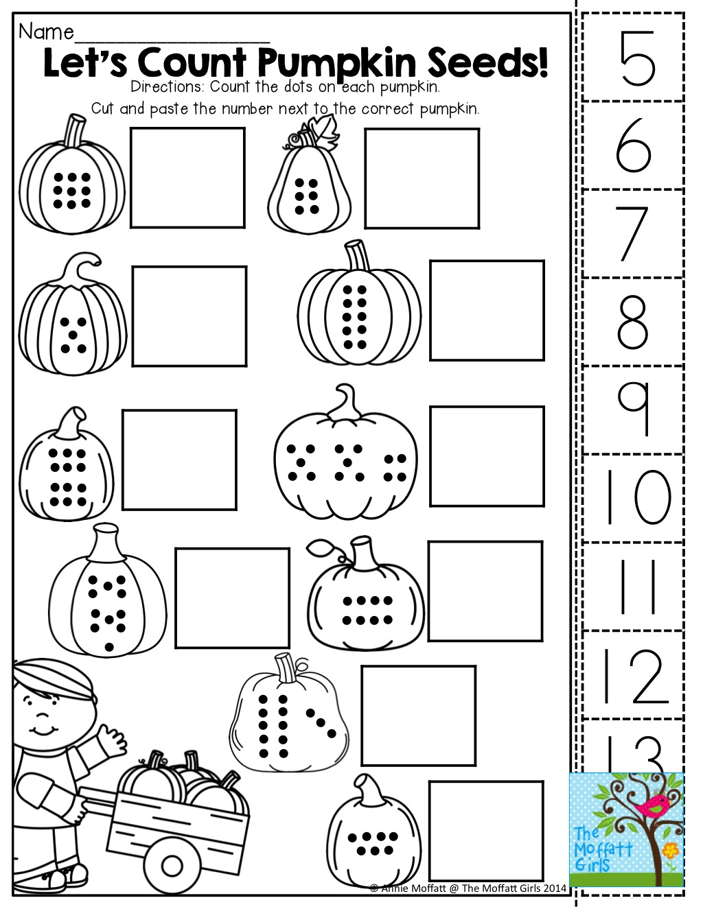 Count Cut And Paste Tons Of Fun Printables Basic Preschool Math