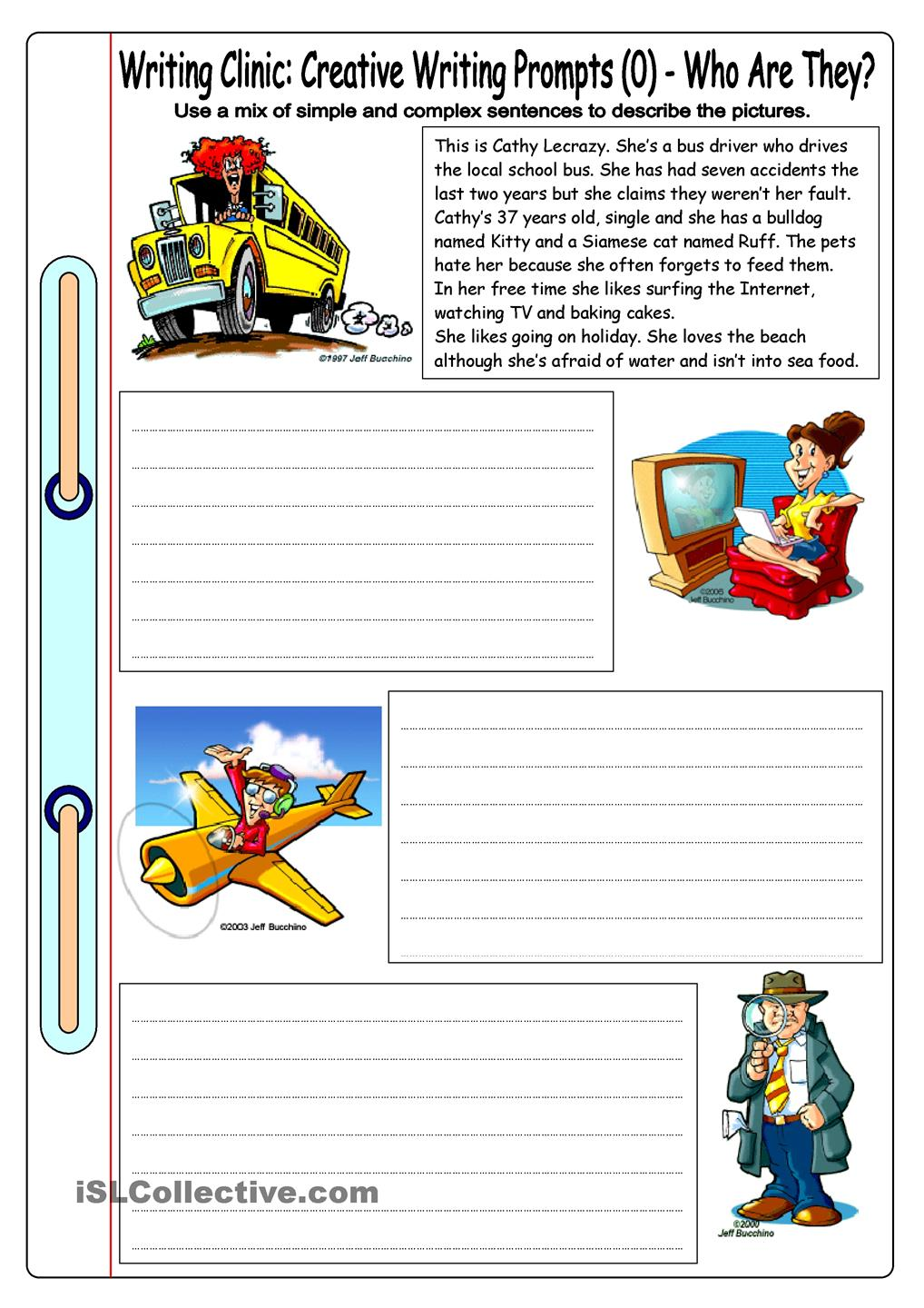 Creative Writing Exercises For Beginners – Worksheets Samples