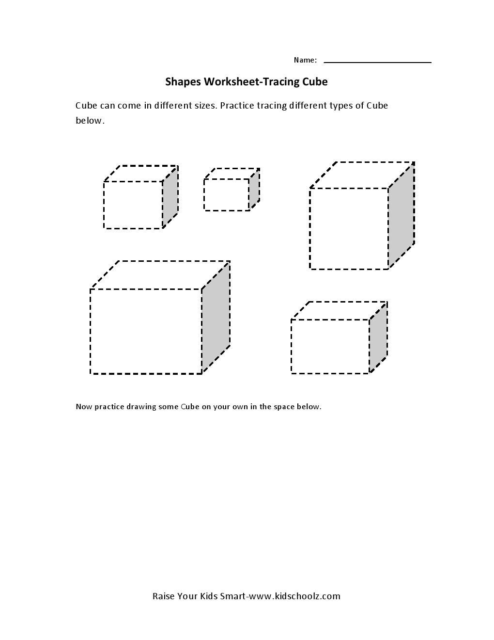 Cubes Worksheets Worksheets For All